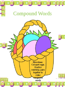 Easter Compound Words {FREEBIE}