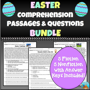 Easter Comprehension Passages and Questions