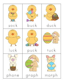 Easter Consonant Digraph Cards