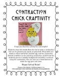 Easter Contraction Chick Craftivity