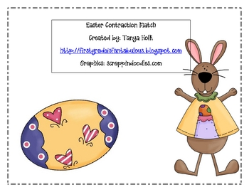 Easter Contraction Match {FREEBIE}