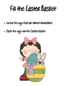 Easter Contractions Freebie