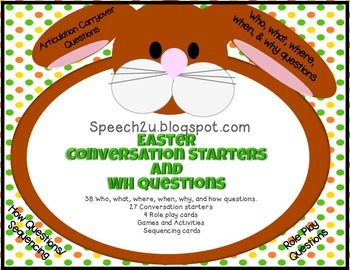 Easter Conversation Starters and WH questions