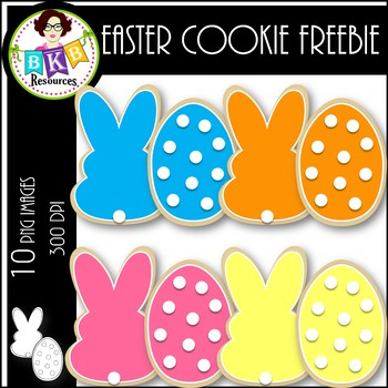 Easter Cookie FREEBIE ● Clip Art ● Products for TpT Sellers