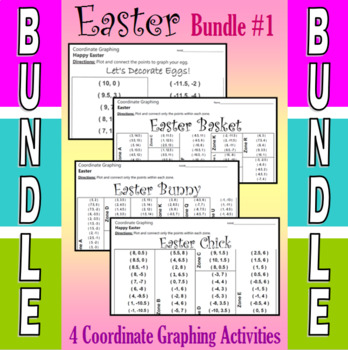 Easter - 4 Coordinate Graphing Activities - Bundle #1
