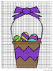 Easter Coordinate Graphing Mystery Picture: Basket of Fun
