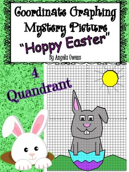 Easter Coordinate Graphing Mystery Picture:  Benny  Spring