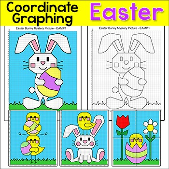 Easter Math Coordinate Graphing Pictures Ordered Pairs - Easter ...