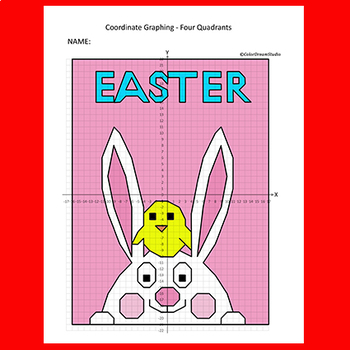 Easter Coordinate Graphing Picture:Easter Bunny