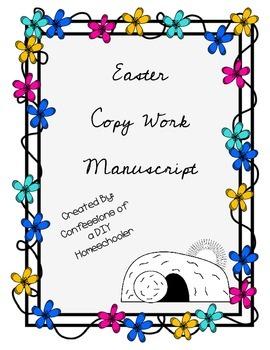 Easter Copy Work Cursive