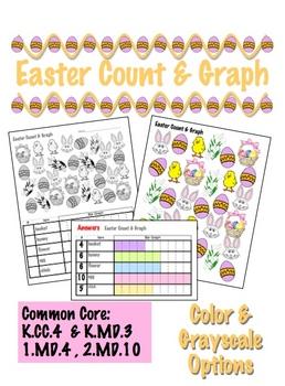Easter Count & Graph  - Common Core Measurement & Data