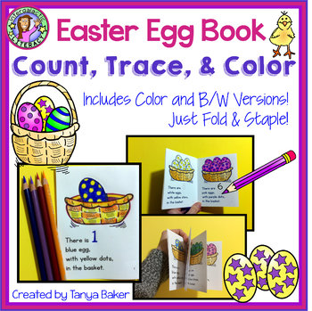 Easter Count, Trace, Color Book 1-10
