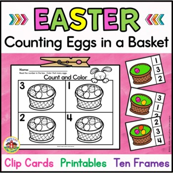 Easter Count and Clip Cards Activities and Printables