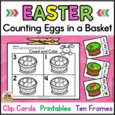 Easter Counting Clip Cards with Number Sense Printables: Counting Easter Eggs