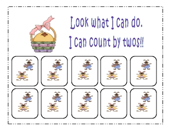 Easter Count by 2's Math Center