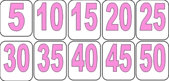 Easter Count by 5's Math Center
