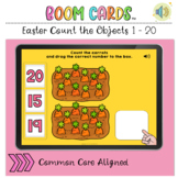 Easter Count the Objects 1 to 20 BOOM LEARNING CARDS Activity