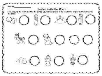 Easter Count the Room {Religious}