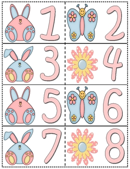Easter Counting Cards 1-100