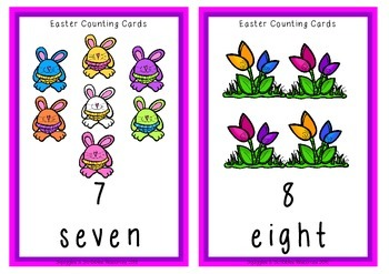 Easter Counting Cards