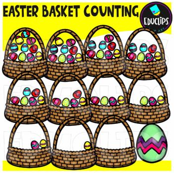 Easter Counting Clip Art Big Bundle {Educlips Clipart}