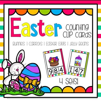 Easter Counting Clip Cards (Numbers 0 - 10) - 4 Sets!