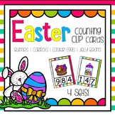 Easter Counting Clip Cards Numbers 0 - 10 ( Bunnies, Carro
