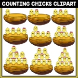 Easter Counting Clipart | Counting Chicks | Easter Clipart