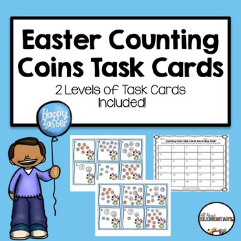 Easter Counting Coins Task Cards
