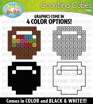 Easter Counting Cubes Clipart {Zip-A-Dee-Doo-Dah Designs}