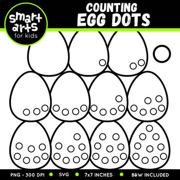 Easter Counting Egg Dots Clip Art