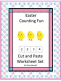 Easter Kindergarten Math Centers Counting Addition & Subtraction Worksheets
