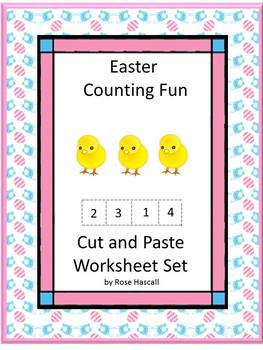 Easter Kindergarten Math Centers Counting Addition & Subtr