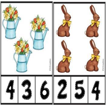Easter Count and Clip Number Cards
