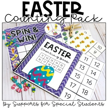Easter Counting Pack - Hands on Counting Activities for Numbers 1-20