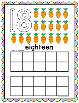 Easter Counting Play Dough Mats 0-10