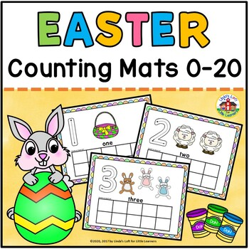 Easter Play Dough Counting Mats 0-10