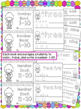 Easter Counting Practice 1-20