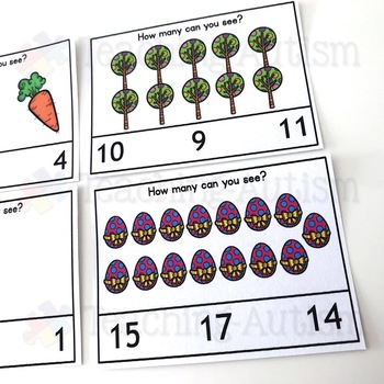 Easter Counting Task Cards, Math Activity