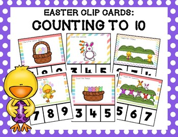 Easter: Counting to 10 Clip Cards