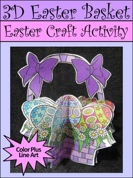 Easter Craft Activities: 3D Easter Basket Craft Activity
