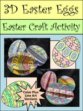 Easter Craft Activities: 3D Easter Eggs Craft Activity