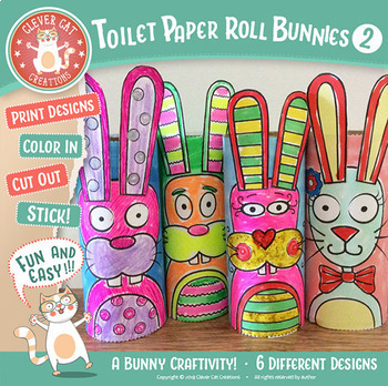 Craft Activity - Toilet Paper Roll Bunnies Set 2