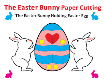 Easter Craft: Easter Bunny Paper Cutting