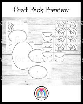 Easter Craft Pack: Hat, Chick, Bunny Egg, Keepsake, Easter Basket