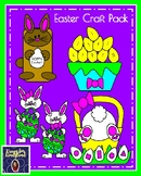 Easter Craft Pack: Number Order Eggs, Shape Bunny Bottom, Puppet, Painters