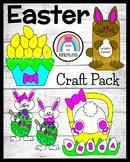 Easter Craft Bundle: Number Order Eggs, Shape Bunny Bottom, Puppet, Painters
