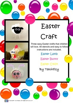Easter Craft with Pompoms