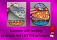 Easter Craftivity Egg Cards Flipbook and basket cards greetings writing Flipbook