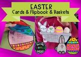 Easter Craftivity Egg Cards Flipbook and basket cards gree